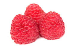 Red Raspberries Close-Up Stock Photo