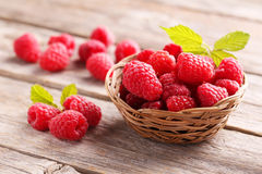 Red raspberries Stock Photography