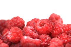 Red raspberries texture. As very nice natural food background Stock Images