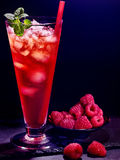 Red  raspberry cocktail  on dark background 35 Royalty Free Stock Image