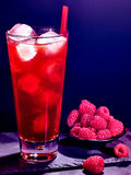 Red  raspberry cocktail  on dark background 44 Royalty Free Stock Image