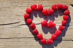 Red Raspberry Heart Stock Images