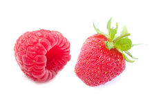 Red Raspberry & Juicy Strawberry Stock Image
