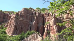 The Red Ravine canyon in Romania. UHD 4K stock video footage