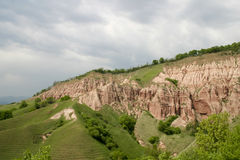 The Red Ravine. Is a geological reserve near Sebes, Alba county, Romania Stock Photos