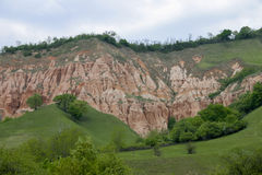 The Red Ravine. Is a geological reserve near Sebes, Alba county, Romania Stock Images
