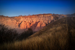 Red Ravine Stock Images