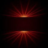 Red ray light Royalty Free Stock Photo