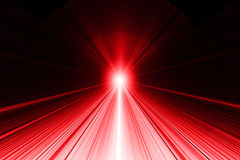 Ray of light abstract background - Red on Black Royalty Free Stock Images
