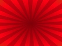 Red rays. Emerging from central point Stock Illustration