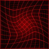 Red rays light 3D mosaic. Stock Images
