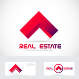Red real estate house logo icon element. Vector company logo icon element template house red real estate roof residential concept Royalty Free Stock Photography