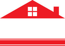 Red Real Estate Logo House Royalty Free Stock Image