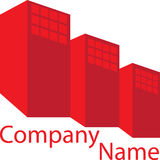 Red Real Estate Logo House Royalty Free Stock Photo