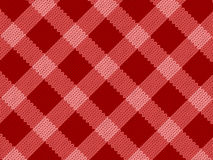 Red realistic fabric pattern Stock Photography