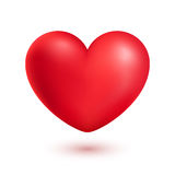Red realistic heart isolated on white Stock Photos