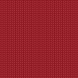 Red realistic knit texture  seamless pattern.  Stock Image