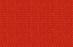 Red realistic simple knit texture vector seamless pattern. Tile Stock Photo