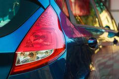 Red rear vehicle headlamp royalty free stock images