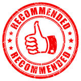 Red recommended rubber vector stamp Stock Photos