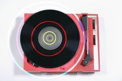 Red record player Stock Image