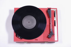 Red record player Stock Photography