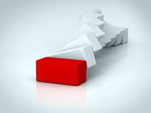 Red rectangle Royalty Free Stock Image