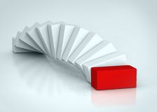 Red rectangle Stock Images