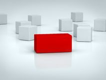 Red rectangle Stock Image