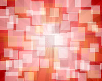 Red rectangular abstract bokeh Royalty Free Stock Image