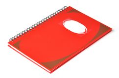 Red rectangular notebook Royalty Free Stock Image