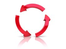 Red recycle Royalty Free Stock Image