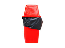 Red recycle bin on white. Royalty Free Stock Photo