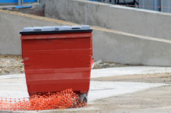 Red recycling bin Royalty Free Stock Image