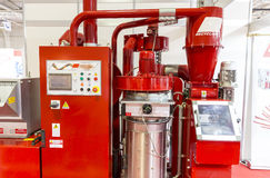 Red recycling machine Stock Photography