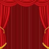 Red red curtain Stock Image