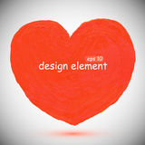 Red, red  heart Royalty Free Stock Image