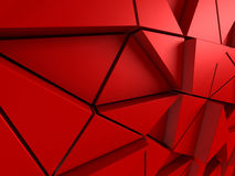 Red red triangle polygons pattern background. 3d render illustration Royalty Free Stock Images