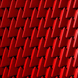 Red red triangle polygons pattern background. 3d render illustration Stock Photography