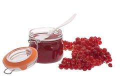 Red redcurrant jam Stock Photo