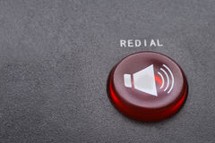 Red redial  button macro Stock Photos