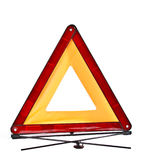 Red reflecting safety triangle Royalty Free Stock Photography