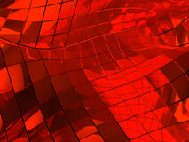 Red reflective abstract tiled background Royalty Free Stock Photos
