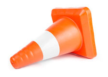 Red Reflective Traffic Cone Royalty Free Stock Image