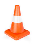 Red Reflective Traffic Cone Stock Photo