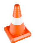 Red Reflective Traffic Cone Stock Photography