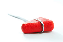 Red reflex hammer. With white background Stock Image