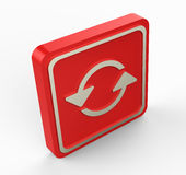 Red refresh 3D button Royalty Free Stock Photos