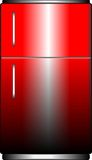 Red refrigerator Royalty Free Stock Photos