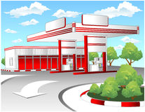 Red refuel station Royalty Free Stock Image